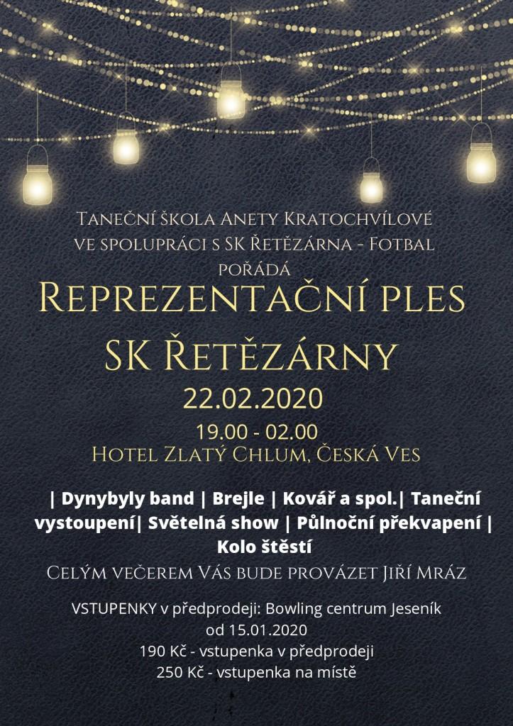 Reprezentační ples SK Řetězárny